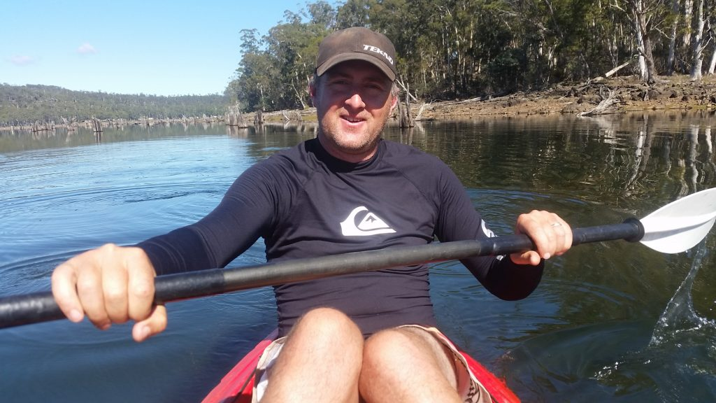 Kayaking on Lake Leake Tasmania