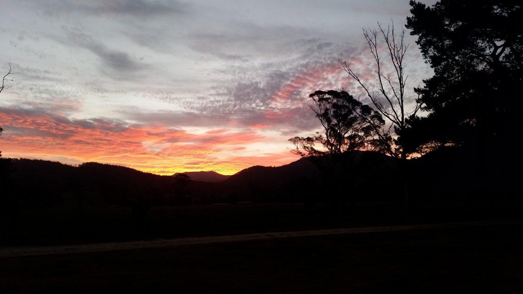 Sunset Pyengana Tasmania